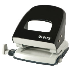 Leitz  NeXXt Series WOW Metal Office 2 Hole Punch  Black  30 sheets