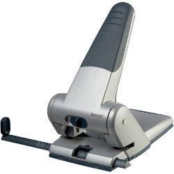 Leitz  Heavy Duty 2 Hole Punch  Silver  A4  65 sheets