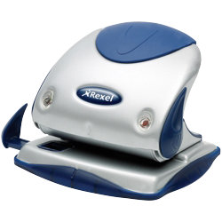 Rexel Two hole punch P225 Silver  Blue 25 Sheets