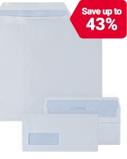 From £7.29 Office Depot self-seal envelopes