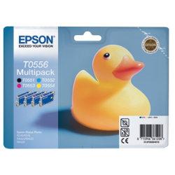 Epson T0556 Original Black & 3 Colours Ink Cartridges C13T05564010