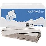 Niceday Papieren handdoeken Standard 1 laags C vouw Naturel 20 Stuks à 200 Vellen