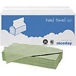 Niceday Papieren handdoeken Standard 1 laags C vouw Groen 20 Stuks à 200 Vellen