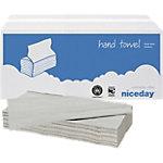 Niceday Papieren handdoeken Standard 1 laags V vouw Naturel 20 Stuks à 250 Vellen