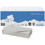 Niceday Papieren handdoeken Standard 1 laags Z vouw Grijs 15 Stuks à 200 Vellen