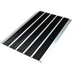 Office Depot Deurmat voor buiten Aluminium randen 600 x 390 mm Zwart