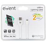 ewent USB naar lightning kabel 2 Meter