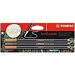 STABILO 68 Metallic Pennen 1.4 mm Assortiment 3 Stuks