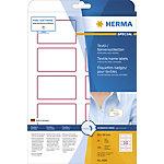HERMA Naam textieletiketten 4589 Wit A4 80 x 50 mm 10 Vellen à 10 Etiketten
