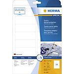 HERMA Naam textieletiketten 4588 Wit A4 88,9 x 33,8 mm 10 Vellen à 16 Etiketten