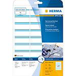 HERMA Naam textieletiketten 4513 Blauw A4 63 x 29 mm 20 Vellen à 27 Etiketten