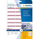 HERMA Naam textieletiketten 4512 Wit A4 63 x 29 mm 20 Vellen à 27 Etiketten