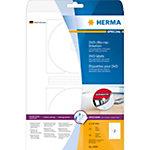 HERMA 4699 CD DVD Etiketten Wit Ø 116 mm 25 Vellen van 2 Etiketten