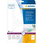 HERMA CD DVD Etiketten 4850 Wit Ø 116 mm 25 Vellen van 2 Etiketten