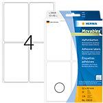 HERMA Multifunctionele etiketten 10618 Wit 52 x 82 mm 32 Vellen à 4 Etiketten