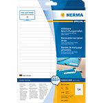 HERMA Verwijderbare opschriftstroken 10015 Wit A4 96 x 10 mm 25 Vellen à 54 Etiketten