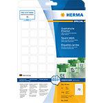 HERMA Verwijderbare etiketten 10105 Wit A4 24 x 24 mm 25 Vellen à 70 Etiketten