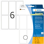HERMA Multifunctionele etiketten 10616 Wit 34 x 67 mm 32 Vellen à 6 Etiketten