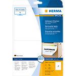 HERMA Verwijderbare etiketten 10020 Wit A4 199,6 x 143,5 mm 25 Vellen à 2 Etiketten