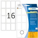 HERMA Multifunctionele etiketten 10613 Wit 25 x 40 mm 32 Vellen à 16 Etiketten