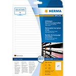 HERMA Verwijderbare opschriftstroken 10022 Wit A4 192 x 10 mm 25 Vellen à 27 Etiketten