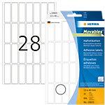 HERMA Multifunctionele etiketten 10605 Wit 13 x 40 mm 32 Vellen à 28 Etiketten
