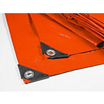 Casa Pura Canvas hoes Multifunctioneel HDPE 80 G QM Oranje 6000 x 8000 mm