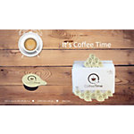 Koffiemelk cups CoffeeTime Creme Bruin