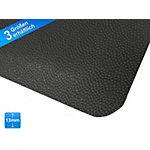 etm Dubbellaags Anti vermoeidheidsmat Heavy Duty Soft Kicks PVC, vinyl Zwart 900 x 3050 mm