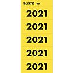 Leitz Etiketten Jaar 2021 Geel 60 x 25,5 mm 100 Stuks