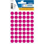 HERMA Multi purpose labels ø 12mm pink 240 pcs. Gekleurde stippen etiketten Roze 13 x 13 mm 10 Pakken à 2400 Etiketten