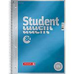 BRUNNEN A4 Student Premium Collegeblok Blauw Kartonnen kaft Gestippeld 80 Vellen