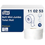 Tork Toiletpapier T2 Premium Mini Jumbo 2 laags 12 Rollen à 1214 Vellen