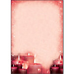 Sigel Rode kaarslicht Kerst briefpapier A4 90 g