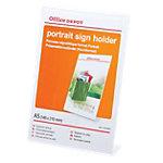 Office Depot Folderhouder Schuinstaand model A5 Transparant Acryl 14,9 x 5,6 x 20,7 cm