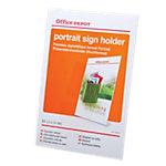 Office Depot Folderhouder Schuinstaand model A4 Transparant Acryl 21,1 x 6,7 x 29,5 cm