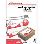 Office Depot Rechte hoeken Multifunctionele etiketten Wit 400 stuks
