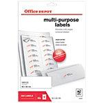 Office Depot Afgeronde hoeken Multifunctionele etiketten Wit 560 stuks