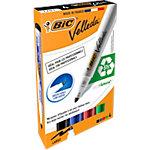 BIC 1701 Whiteboard marker Ronde punt 1.5 mm Kleurenassortiment 4 Stuks