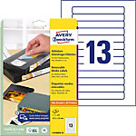 AVERY Zweckform Video etiketten L4746REV 25 Wit 147,3 x 20 mm 25 Vellen à 13 Etiketten