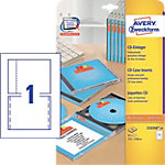 AVERY Zweckform CD etiketten C32250 25 A4 Wit 151 x 118 mm 25 Vellen à 1 Etiketten