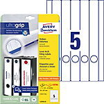 AVERY Zweckform Ordnerrugetiketten L4758 25 Ultragrip Wit A4 30 Vellen à 5 Etiketten 3,8 x 29,7 cm
