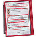 DURABLE Vario® Displaysysteem Rood, transparant A4 Metaal 4 x 32,5 cm 5 Stuks