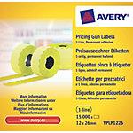 Avery Etiketten YPLP1226 Geel 26 x 12 mm 10 Pakken à 1500 Etiketten