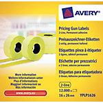 Avery Etiketten YPLP1626 Geel 26 x 16 mm 10 Pakken à 1200 Etiketten