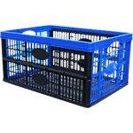 Viso Inklapbare transportbak Polypropyleen 47,5 x 35 x 23,5 cm Blauw