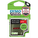 DYMO Labeltape 1978366 Wit op Rood 12 mm x 3 m