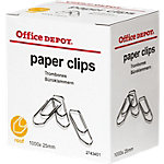 Office Depot Paperclips Zilver 1000 Stuks