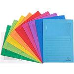 Exacompta Venstermap 50100E A4 Kleurenassortiment Recycled karton Met venster 22 x 31 cm 100 Stuks