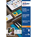 Avery C32010 25 Visitekaartjes A4 mat 185 g